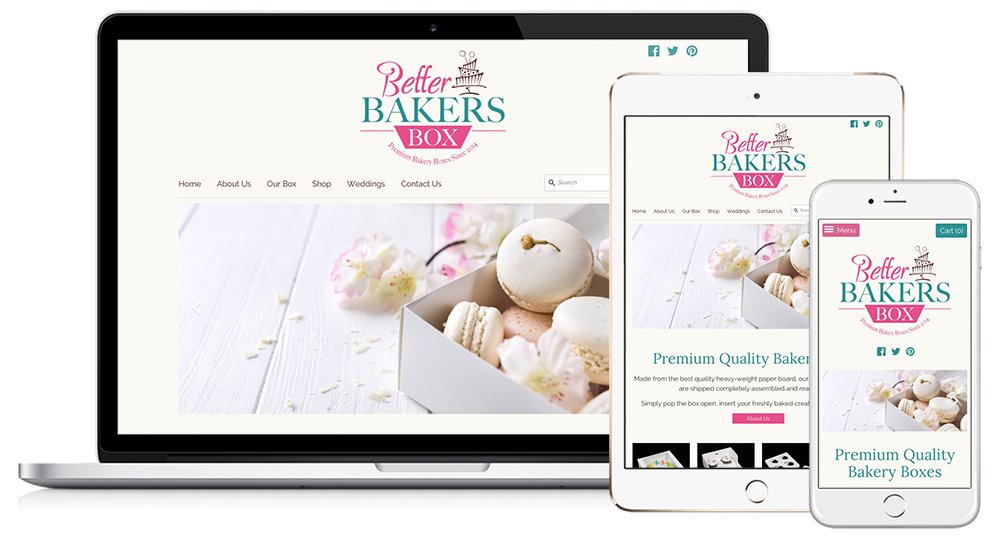 Better Bakers Box Web Design // Image Design Digital Marketing
