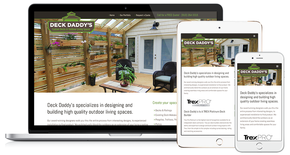 Deck Daddy's Web Design // Image Design Digital Marketing