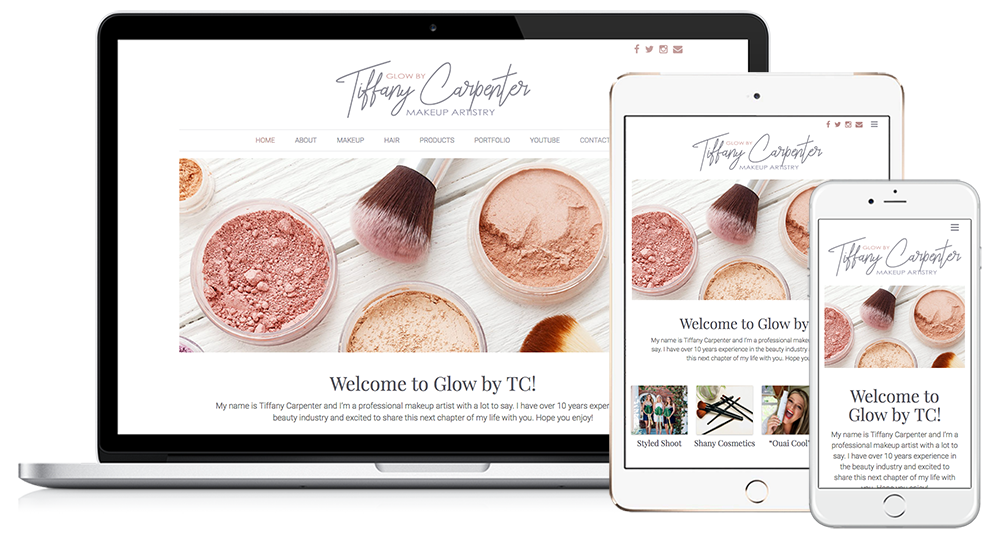 Image Design Responsive Website Design | Glow by TC