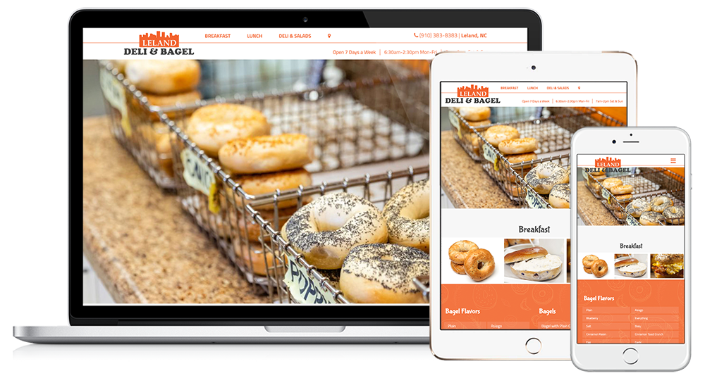 Leland Deli & Bagel Web Design // Image Design Digital Marketing