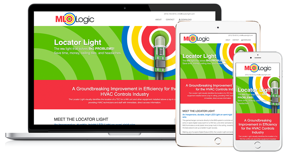 Locator Light Web Design // Image Design Digital Marketing