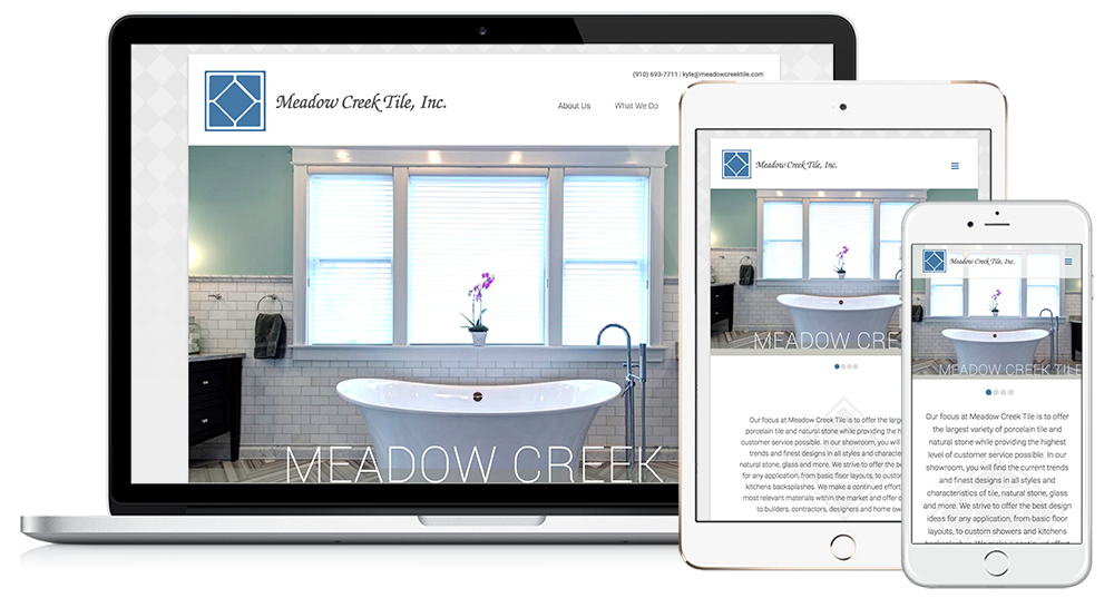 Meadow Creek Tile Web Design // Image Design Digital Marketing