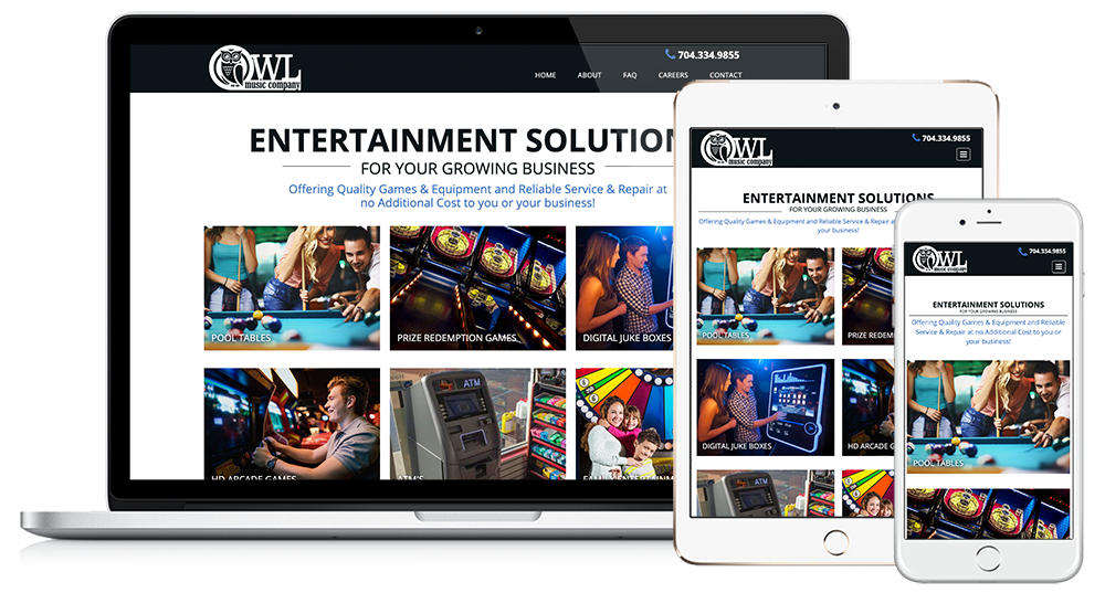 Owl Music Web Design // Image Design Digital Marketing