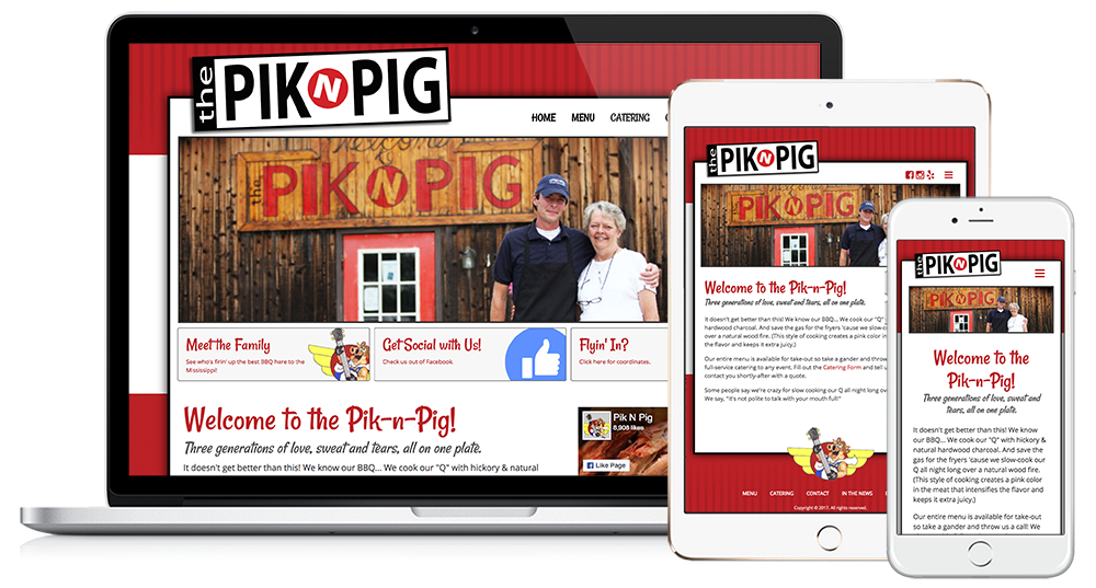 Pik n' Pig Web Design // Image Design Digital Marketing