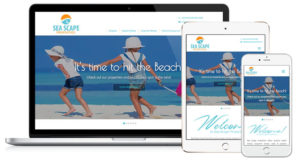 Sea Scape Properties Web Design // Image Design Digital Marketing