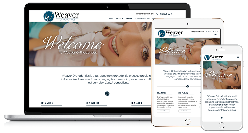 Weaver Orthodontics Web Design // Image Design Digital Marketing